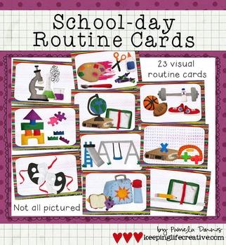 Schedule Cards {School-day Version}