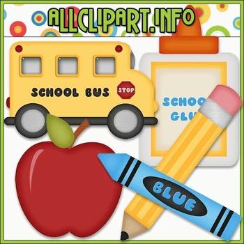 BUNDLED SET - School Days 1 Clip Art & Digital Stamp Bundle