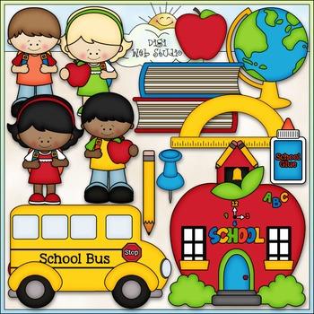 School Days Clip Art - Back To School Clip Art - CU Clip Art & B&W