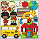 School Days - CU Clip Art & B&W Set