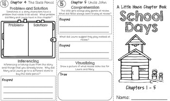 School Days (A Little House Chapter Book) Trifold Literature Study - No Prep!