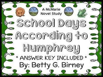 School Days According to Humphrey (Betty G. Birney) Novel