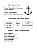 School Days According to Humphrey  - Chapter Summary Page - Teacher Edition