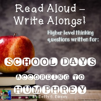 School Days According to Humphrey Read Aloud Write Along