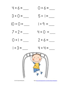 School Days Addition Practice Packet (Sums of 0-10)