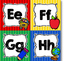 School Days Alphabet Word Wall Letters {Bright Primary Stripes}