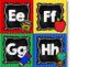 School Days Alphabet Word Wall Letters {Chalkboard & Bright Primary Stripes}