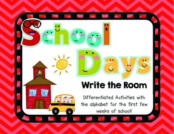 School Days: Alphabet Write the Room