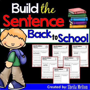 Back to School Build the Sentence