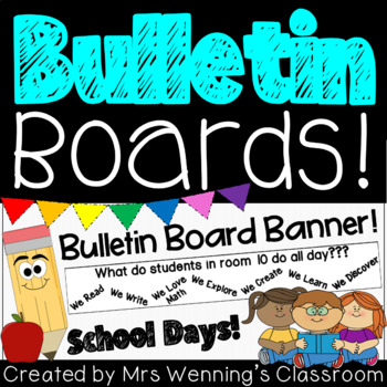 School Days Banner and Bulletin Board Activity