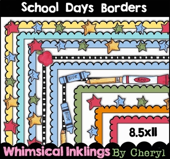 School Days Borders Clipart Collection