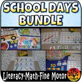 School Days Bundle Math Literacy Fine Motor Activities Sha
