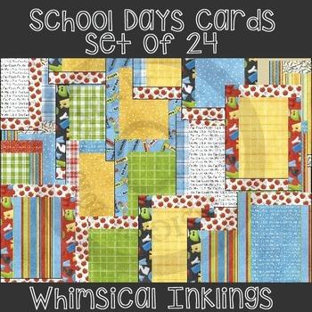 School Days Card Starters set of 24