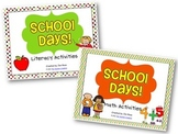 School Days Centers BUNDLE