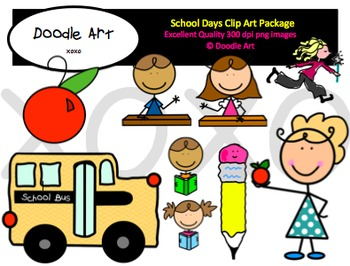 School Days Clipart Pack