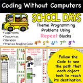 School Days Coding Freebie