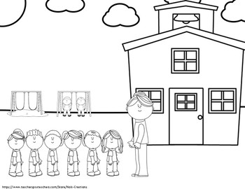 School Days Coloring Sheets