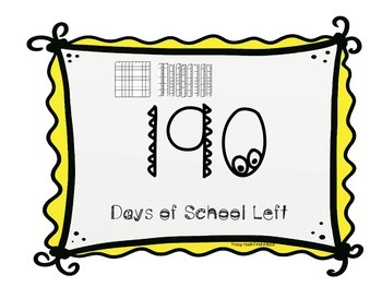 School Days Countdown With Place Value Sticks Calendar Activity
