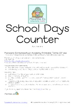 School Days Counter For Circle Time