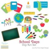 School Days Digital Clip Art set