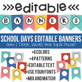 Editable Banners School Days