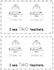 """""""School Days"""" Emergent Reader - Traceable Numbers 1-10"""