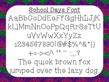 School Days Font {True Type Font for personal and commercial use}