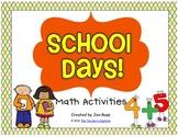 School Days Math Centers
