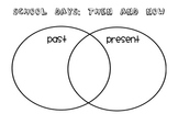 School Days Past and Present Venn Diagram