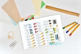 School Days Planner Printable Sticker Sheet