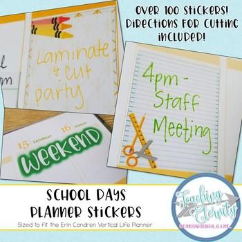 School Days Planner Stickers