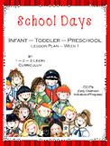 School Days Lesson Plan - Week 1 ECIPS