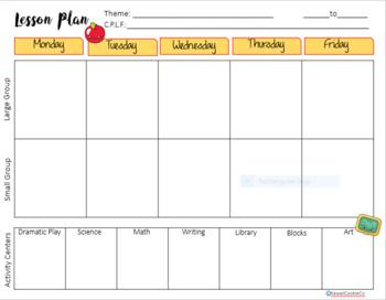 School Days Preschool Lesson Planner