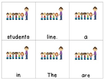 School Days Scrambled Sentences