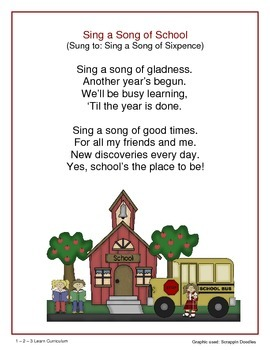 School Days - Songs, Poems and Fingerplays