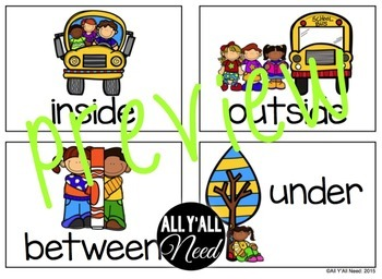 School Days Spatial Concepts