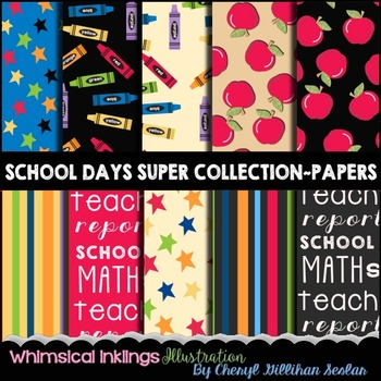 School Days Super Paper Collection 12x12