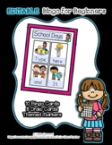 School Days - Supports 8 Words - Editable Bingo for Beginners *o