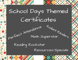School Days Themed Certificates - Semester, End of Year -