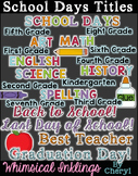School Days Titles Clipart Wordart