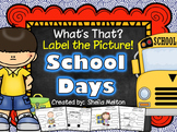 Back to School Label the Picture