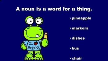 School Days With Nouns, Verbs, and Adjectives - A PowerPoint Game Mini Pack