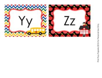 School Days Word Wall Headers