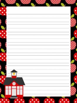 School Days Writing Paper - 3 Designs - ( 7 1/2x10 )