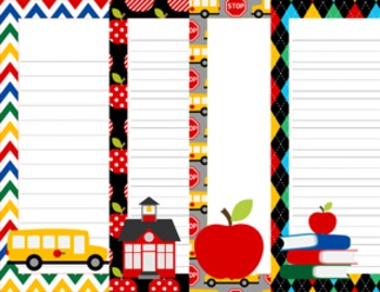 School Days Writing Paper - 3 Designs - ( 7 1/2x10 )