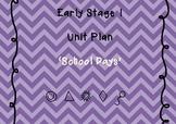 School Days unit plan