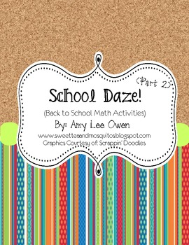 School Daze (Back to School Math)- Part 2
