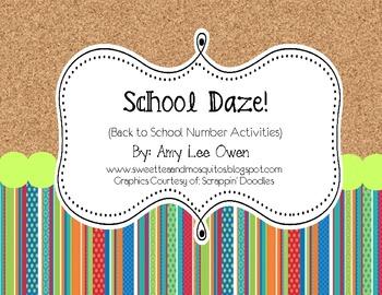 School Daze (Back to School Number Activities)