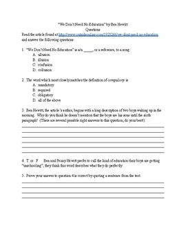 School Design Project - Project-Based Learning - Common Core