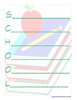School Diamante & Acrostic